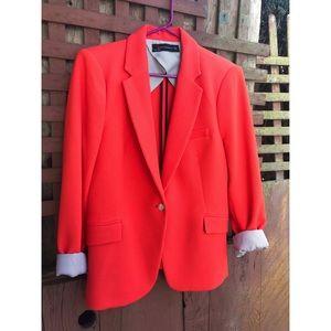 Zara Red Orange Blazer Size XL